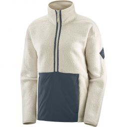 Salomon Snowshelter Teddy Half Zip Fleece Dame