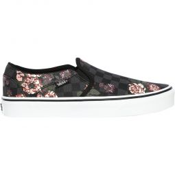 Vans Asher Flowers Slip-On Canvas Sneakers Dame
