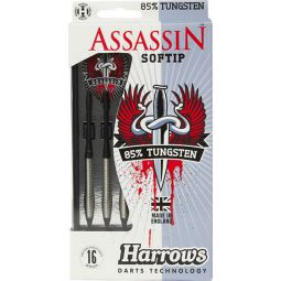Harrows Assassin 85% Tungsten Softip Dartpile